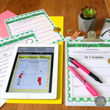 Nonfiction Info Text Lesson on Hot Topics, Positive Thinking, Sub Plan