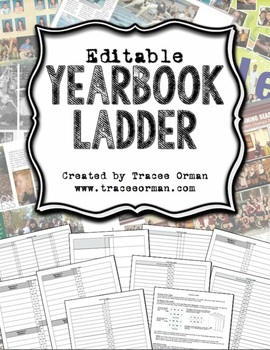 Yearbook Ladder Editable Template {16-page Signatures} by Tracee Orman