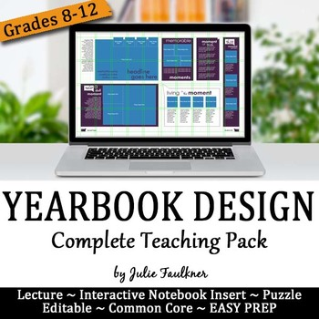 Yearbook Page Layout and Design, Complete Teaching Pack