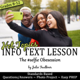 Yearbook Nonfiction Info Text Lesson/Photo Project, Hot Topics Selfie, Sub Plan