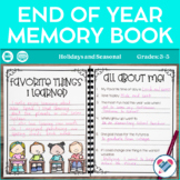 End of Year Memory Book and Yearbook Pages DISTANCE LEARNING