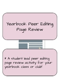 Yearbook Peer Editing Page Review