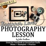 Yearbook Journalism Photography Complete Teaching Pack, Beginners
