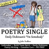 Yearbook Poetry Lesson & Creative Writing Project, I'm Somebody, NO PREP