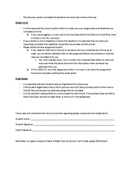Yearbook Policy Contract