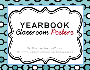 Yearbook Posters Blue Circles