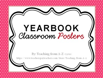 Yearbook Posters Pink Dots
