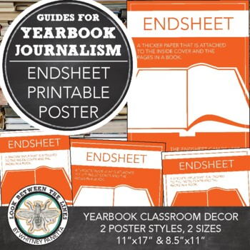 Yearbook Printable Poster, Endsheet, Modern Journalism Classroom Decor