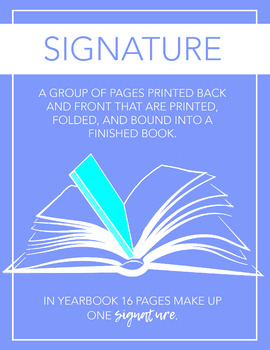 Yearbook Printable Poster, What is a Signature, Modern Journalism Class Decor