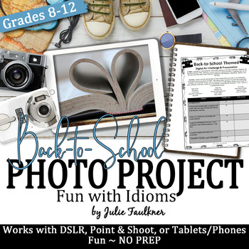 Yearbook Project, Back to School Idiom Inspired Digital Ar