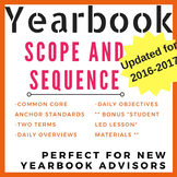 Yearbook Scope and Sequence & Daily Outlines {Updated for