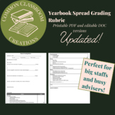 Yearbook Spread Grading Rubric, chronological