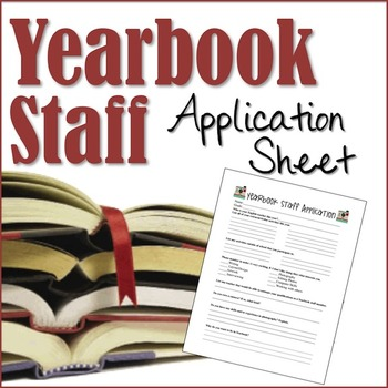 Yearbook Staff Application Sheet