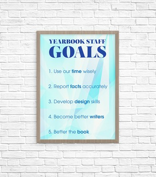 Yearbook Staff Goals Poster