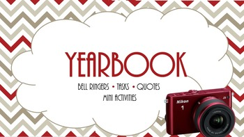 Yearbook Staff --  Mini Activities, Bell Ringers, Scenarios