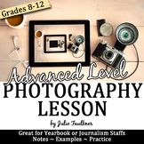 Yearbook Journalism Photography Complete Teaching Pack, Advanced