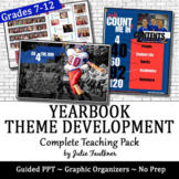 Yearbook Theme Development Expansion Brainstorming Graphic Organizers & PPT