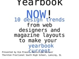 Yearbook Trends #1 Power Point