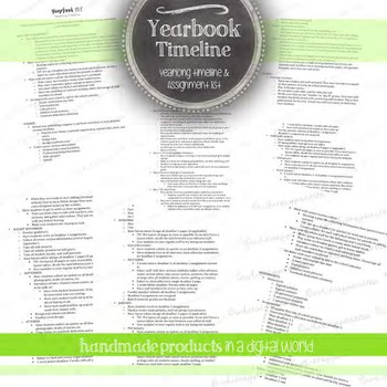 Yearbook Yearlong Timeline: Outline for Your Year