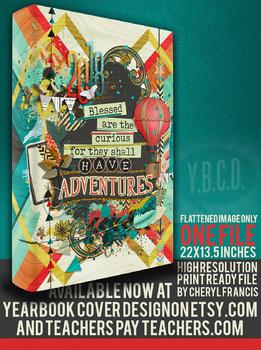 Yearbook cover design Adventures 2018