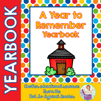 Yearbook for Elementary End of Year Memories Activities