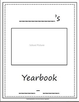 Yearbook/Memory Book/Autograph Book includes grades 1st-6th