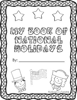 Yearlong American Holiday Fill in the Blank Booklet