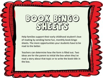 Yearlong Book Bingo Pages for At Home Reading