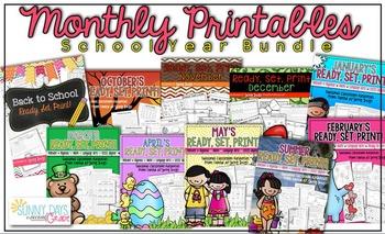 Yearlong Bundle: Monthly Printable Packs