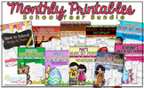 Yearlong Bundle: Monthly Printable Packs