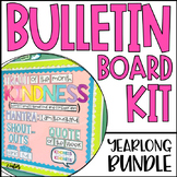 Yearlong Character Education Bulletin Board Kit | Social Emotional Learning