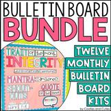 Yearlong Character Education Bulletin Board Kit | Social Emotional Learning