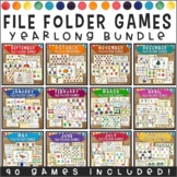 Yearlong File Folder Games Bundle