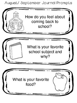 Yearlong Journal Prompts for Special or Primary Education