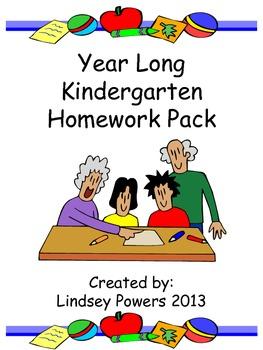 Yearlong Kindergarten Homework Pack