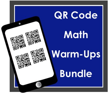 QR Code Math Warm-Ups Yearlong Bundle