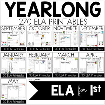Yearlong Mega Bundle ELA Common Core Crunch