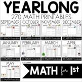 Yearlong Monthly MATH Printables Mega Bundle - Common Core Crunch