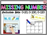 Missing Numbers- Yearlong! Ordering Numbers Sets to: 20, 100 & 120!