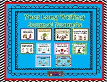 Yearlong Monthly Writing Journal Prompts