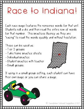 Yearlong Nonsense Word Reading Games Aligned to Level 1 Fundations