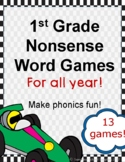 Yearlong Nonsense Word Reading Games Aligned to Level 1 Fu