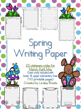 Writing Paper: Seasonal Full Year BUNDLE