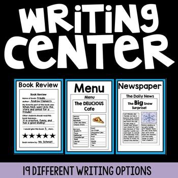 Yearlong Writing Center {19 Writing Options}