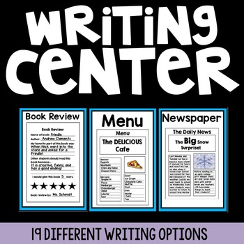 Yearlong Writing Center {19 Writing Options}