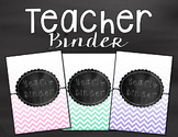 Teacher Binder- Chalkboard and Chevron Theme