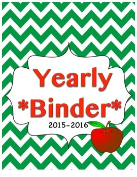 Yearly Binder Primary Grades