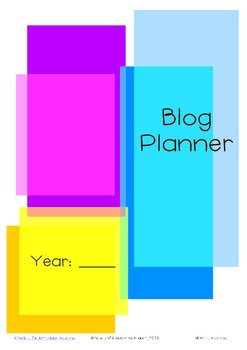 Yearly Blog Planner