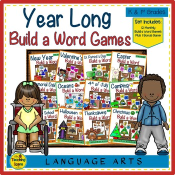 Yearly Build a CVC Word Phonics Bundle