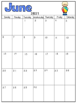 Yearly Calendar / Editable Calendar / Monthly Calendar  *Lifetime Updates*